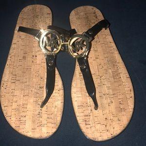MK cork sandals